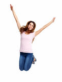 Happy jumping girl. Stock Image