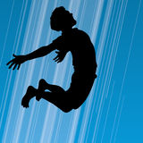 Happy Jumping Man. An illustration of man jumping for joy Stock Images