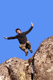 happy jumping man Στοκ Εικόνα
