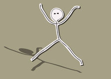 Jumping man Royalty Free Stock Images