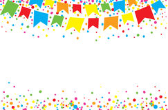 Happy June Festival at day. With bright and colorful dots in the sky Stock Images