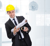 Happy junior architect Stock Photography