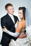 Happy just married bride and groom Stock Image