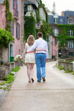 Happy just married couple on Montmarte Royalty Free Stock Photo