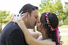 Happy just married couple Stock Photography