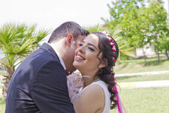 Happy just married couple Royalty Free Stock Image
