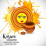 Happy Karwa Chauth. Royalty Free Stock Images