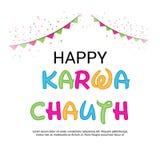 Happy Karwa Chauth. Stock Image