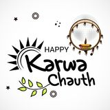 Happy Karwa Chauth. Royalty Free Stock Photos
