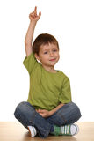 Happy kid. Happy and smile five years old boy isolated on white Royalty Free Stock Photo