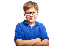 Happy kid with arms crossed Stock Photo