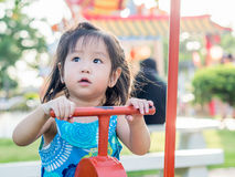 Happy kid, asian baby child. Playing on playground Stock Images