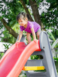 Happy kid, asian baby child playing on playground Stock Images