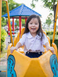 Happy kid, asian baby child in school uniform Royalty Free Stock Photo