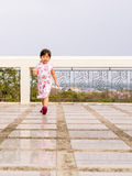 Happy kid, asian baby child walking around action Stock Photography