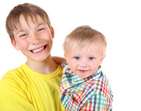Happy Kid and Baby Boy Royalty Free Stock Photography