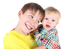 Happy Kid and Baby Boy Stock Images