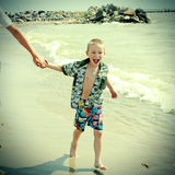 Happy Kid at the Beach Stock Photography