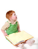 Happy kid with book Royalty Free Stock Images