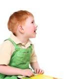 Happy kid with book Stock Photo