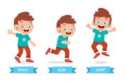 Free Happy Kid Boy Do Wak Run Jump Royalty Free Stock Image - 160885796