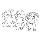 Happy kid cartoon doodle Stock Images