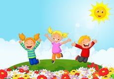 Happy kid cartoon Stock Photos