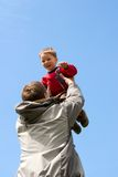 Happy kid with father Royalty Free Stock Photos