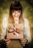 Happy Kid with Gift Royalty Free Stock Photography