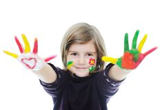 Happy kid girl Royalty Free Stock Photo