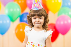 Happy kid girl on birthday party Royalty Free Stock Photo