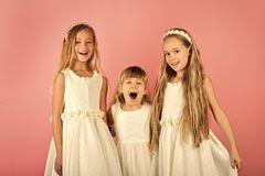 Happy kid having fun. friends and sisters. friends girls children and happiness. Happy kid having fun. friends and sisters. friends girls children and happiness royalty free stock photos