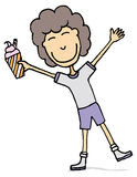 Happy kid with ice cream Royalty Free Stock Photography