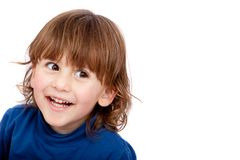 Happy kid isolated Stock Photography