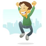 Happy Kid Jumping Royalty Free Stock Images