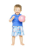 Happy kid little boy with balloon. Child smiling i Royalty Free Stock Image