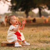 Happy kid outdoor Royalty Free Stock Images