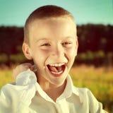Happy Kid Outdoor Stock Image