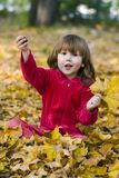 Happy kid in the park Royalty Free Stock Images