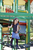 Happy kid on playground Stock Photography