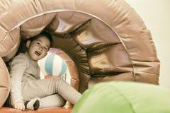Happy kid on playground Royalty Free Stock Photo