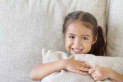 Happy kid playing, smiling Royalty Free Stock Image