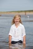 Happy kid in the sea Royalty Free Stock Photos