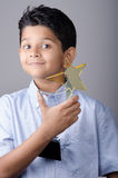Happy kid or student with award. Happy kid or student with award royalty free stock image