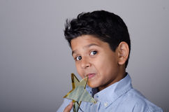 Happy kid or student with award.  stock photography