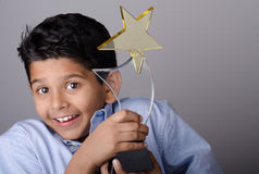 Happy kid or student with  award. Stock Images