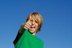 happy kid thumb up Стоковое Изображение