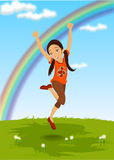 Happy Kid. Vector illustration of  a happy kid Stock Photos