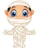 Happy kid wearing mummy costume Royalty Free Stock Photo