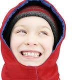 Happy Kid in Winter Stock Photo